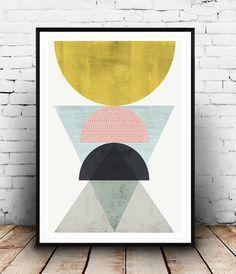 Résumé affiche art géométrique minimaliste Résumé de par Wallzilla