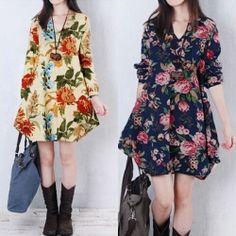 02599b093bfc Mini vestidos de flores Boho Sommer Outfits