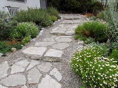 Comely Cement Pathways With Design : Fairy Yardmother Landscape Design Broken Concrete Urbanite Pathways