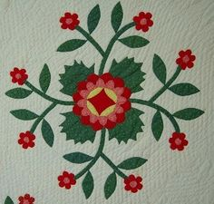 whig rose quilt block