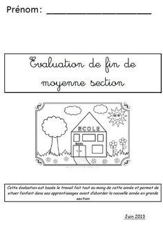 Les évaluations de MS - La maternelle de Teet et Marlou