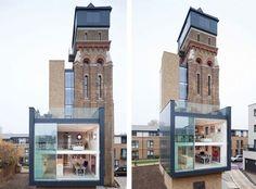 La rénovation de vieux bâtiments est une façon étonnante de réhabiliter une architecture traditionnelle dans un nouveau paysage urbain. Leigh Osborne et Graham Voce se sont lancés ce défi, en s'attaquant à un vieux château d'eau dans la ville de Londres. Ils réaniment cette vieille bâtisse pour en faire une magnifique maison avec quatre chambres à coucher.