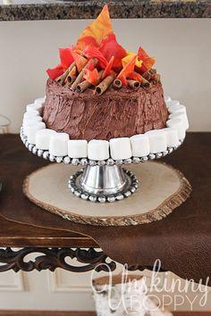 Cute campfire birthday cake.