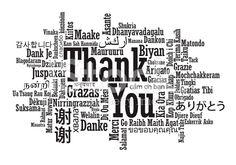 単語の雲ありがとうございました。 ロイヤリティフリーストックのベクターアート