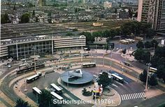 Het Stationsplein en de Central Station 1976