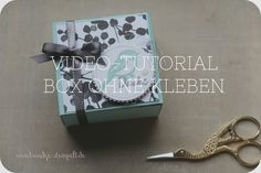 Claudinchens-kreative-Seite: Video-Tutorial - Box ohne kleben Stampinup, Workshop, Decorative Boxes, Paper Crafts, Seasons, Html, 3d, Spring, Bags