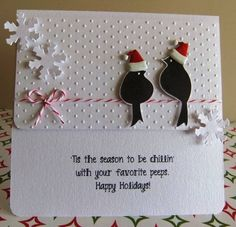 Wplus9 Love Birds stamps and dies.  Christmas.