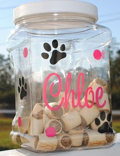 Personalized Treat Container by sweetsoutherndesign on Etsy, $6.00