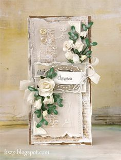 Klaudia/Kszp: Do mapki Justt Pretty Cards, Cute Cards, Envelopes, Card Making Designs, Mixed Media Cards, Romantic Cards, Shabby Chic Cards, Beautiful Handmade Cards, Card Tags