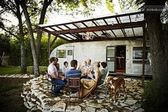 $99 This fully remodeled vintage trailer has all the amenities for an overnight stay or a weeklong vacation. With a private bath, queen-size bed, and a cozy patio for lounging, this may be one of the coolest stays in Austin.