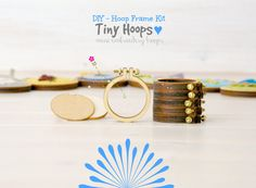 DIY Tiny Embroidery Hoop Frame Kit 1.6/4CM by CraftyWoolFelt