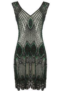 The Dark Green Vampire Dress