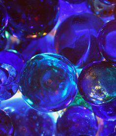 When The Stars Go Blue by just. Azul Indigo, Bleu Indigo, Mood Indigo, Color Explosion, Le Grand Bleu, Glass Marbles, Blue Marbles, Himmelblau, Blue Christmas
