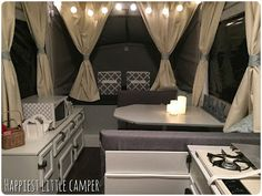 A romantic, cozy glamper makeover! You'd hardly believe this is a pop up camper!