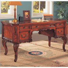 coaster beautiful molding traditional style home office writing desk amazoncom coaster shape home office
