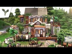 Sims 4, Cottage, Cabin, Mansions, House Styles, Building, Home Decor, Youtube, Diy Ideas For Home