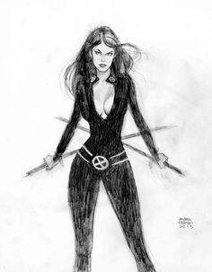 Psylocke pencil commission by *Andrew-Robinson on deviantART
