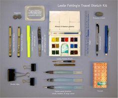 Leslie Fehling's travel sketch kit