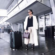 Jessie Malay carries The Strathberry Midi Tote in Burgundy
