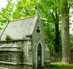 Mausoleum In Cemetery Photograph by Michael Moriarty