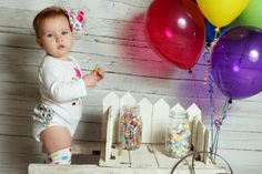 Colorful Candy First Birthday Celebration Photo Shoot by J Lyn Photography   Two Bright Lights