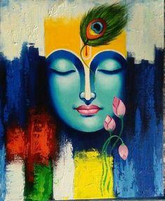 fine art Plus Size plus size flare jeans Lord Ganesha Paintings, Krishna Painting, Madhubani Painting, Krishna Art, Krishna Drawing, Krishna Images, Radhe Krishna, Buddha Painting, Mural Painting