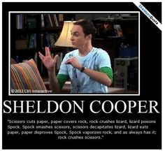 Scissors cuts paper...- from The Lizard-Spock Expansion Season 2 , episode 8