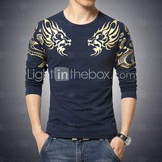 Tee-shirt Grandes Tailles Homme Coton Imprimé Sports Bohème   Manches  Longues 382ac56da683