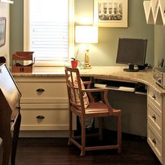 Superieur Traditional Home Office Built In Desk Design, Pictures, Remodel, Decor And  Ideas