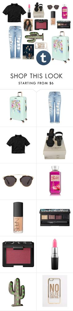 """""""The good girl celeb (tag)"""" by bescupcakes ❤ liked on Polyvore featuring Ted Baker, Genetic Denim, Abercrombie & Fitch, Yves Saint Laurent, Christian Dior, NARS Cosmetics, MAC Cosmetics and ASOS"""