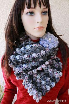 CROCHET INFINITY SCARF  Winter Scarf  by CrochetedByLyubava