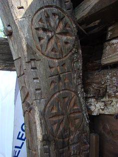 Wooden Crosses, Chip Carving, Architectural Features, Flower Of Life, Sacred Geometry, Romania, Folk Art, Cottages, Castles