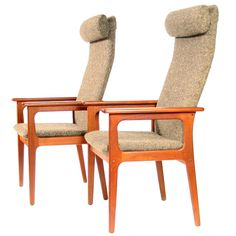 Pair of Danish Lounge Chairs, 1970's / 1stdibs