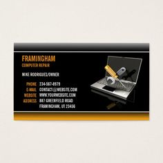 154 best computer repair business cards images on pinterest computer repair business card colourmoves