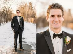 Emily and Brad's Gold, Red, White and Black Winter Christmas Wedding at the Danada House » Two Birds Photography