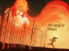 Runaway or get burned * aesthetic *