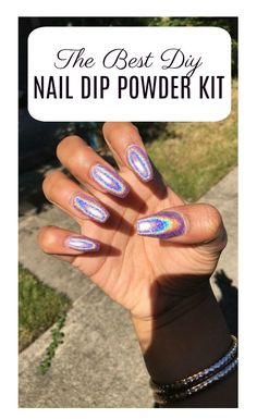 Nail dip powder is so gentle on your nails, and lasts longer than a gel mani! Best of all you can DIY your nail dipping powder manicure at home to save $$$!
