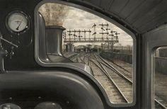View of York Station - Herbert William Garratt, 1909.