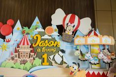 Baby Mickey and friends birthday party decorations! See more party planning ideas at CatchMyParty.com!