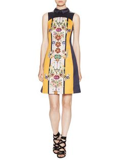 Gattaca Collared Flared Dress from Up to 80% Off: Mary Katrantzou on Gilt