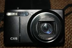 Ricoh CX5 10,0 MP Digitalkamera - Schwarz