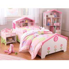 Cama infantil con casita de muñecas