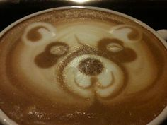 Panda Cappuchino art