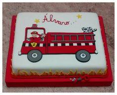"""Torta de bombero"" dibujada ."