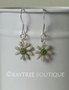 Pearl and sage green daisies by Baytree Boutique