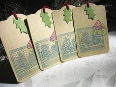 Celebrate The Season Christmas Holiday Post Gift by pearliebird, $4.00