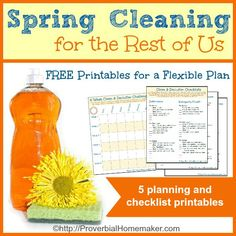 6 Week spring clean and declutter challenge - cleaning and decluttering for the busy mom!