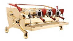 Gold body custom espresso machine Slayer
