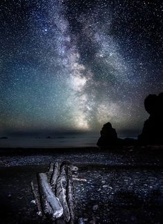 Journey to the Heavens - Ruby Beach, WA  read more at www.DaveMorrowPhotography.com    #stars #milkyway #seattle #rubybeach #travel #D800 #starphotographytutorial