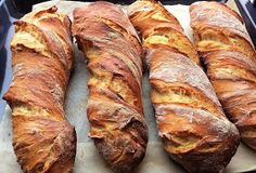 ZabosBabos: Gyökérkenyér Croissant Bread, Hungarian Recipes, Ciabatta, Winter Food, International Recipes, Banana Bread, Hamburger, Bakery, Sandwiches